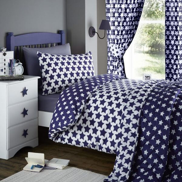 Etoile Star Printed Duvet Cover Bedding Set