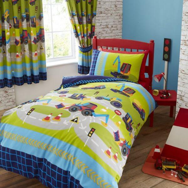 Diggers Duvet Cover Set - Kids Bedding Set