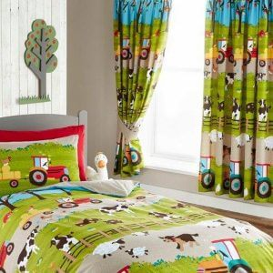 Farmyard Curtains for Children's Farm Themed Bedroom