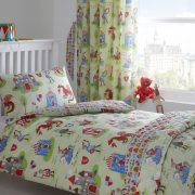 Duvet Cover Set & Curtains with Knights & Dragons Design