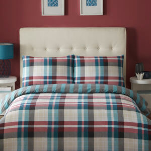 Deacon Duvet Cover Set - Colour Teal