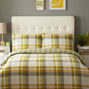 Deacon Lime Single Duvet Cover Set