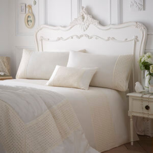 Full View - Neve Design Cream Colour Luxury Bedding