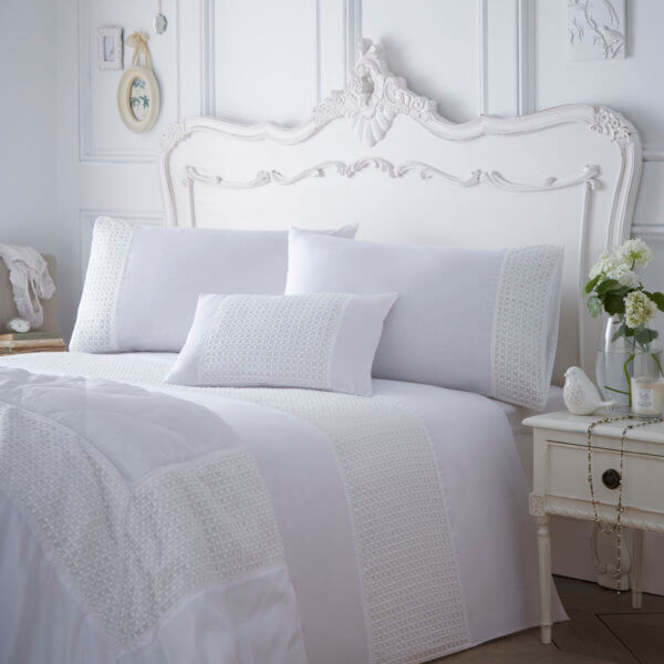 Full View - Neve Design White Colour Luxury Bedding