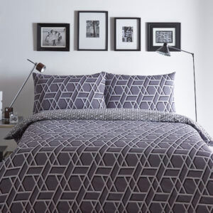 Trendy Reuben Design - Charcoal Colour Duvet Cover Set