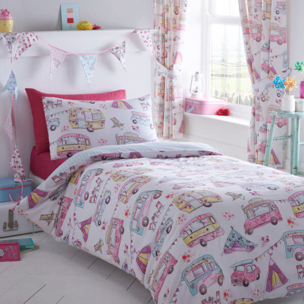 Glamping Design Curtains. Matching Duvet Cover Set