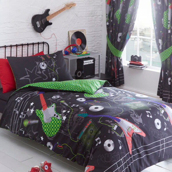 Guitar Design Duvet Cover