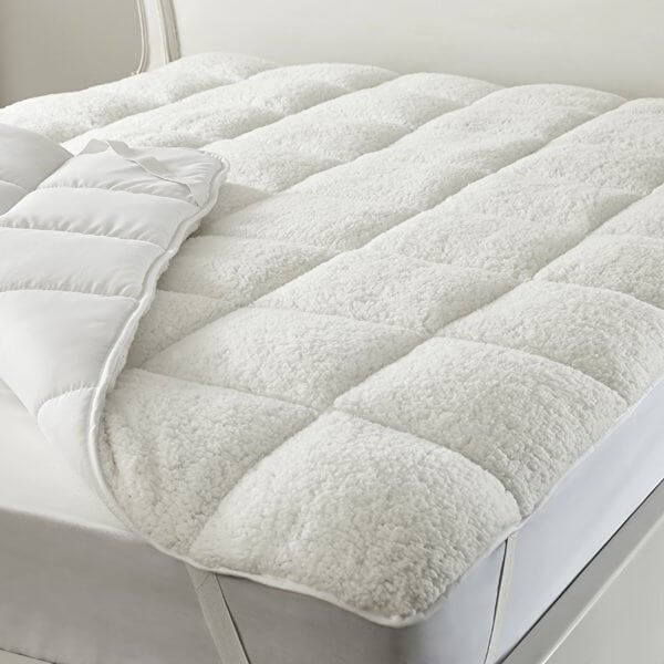 Quilted Sherpa Fleece Under Blanket