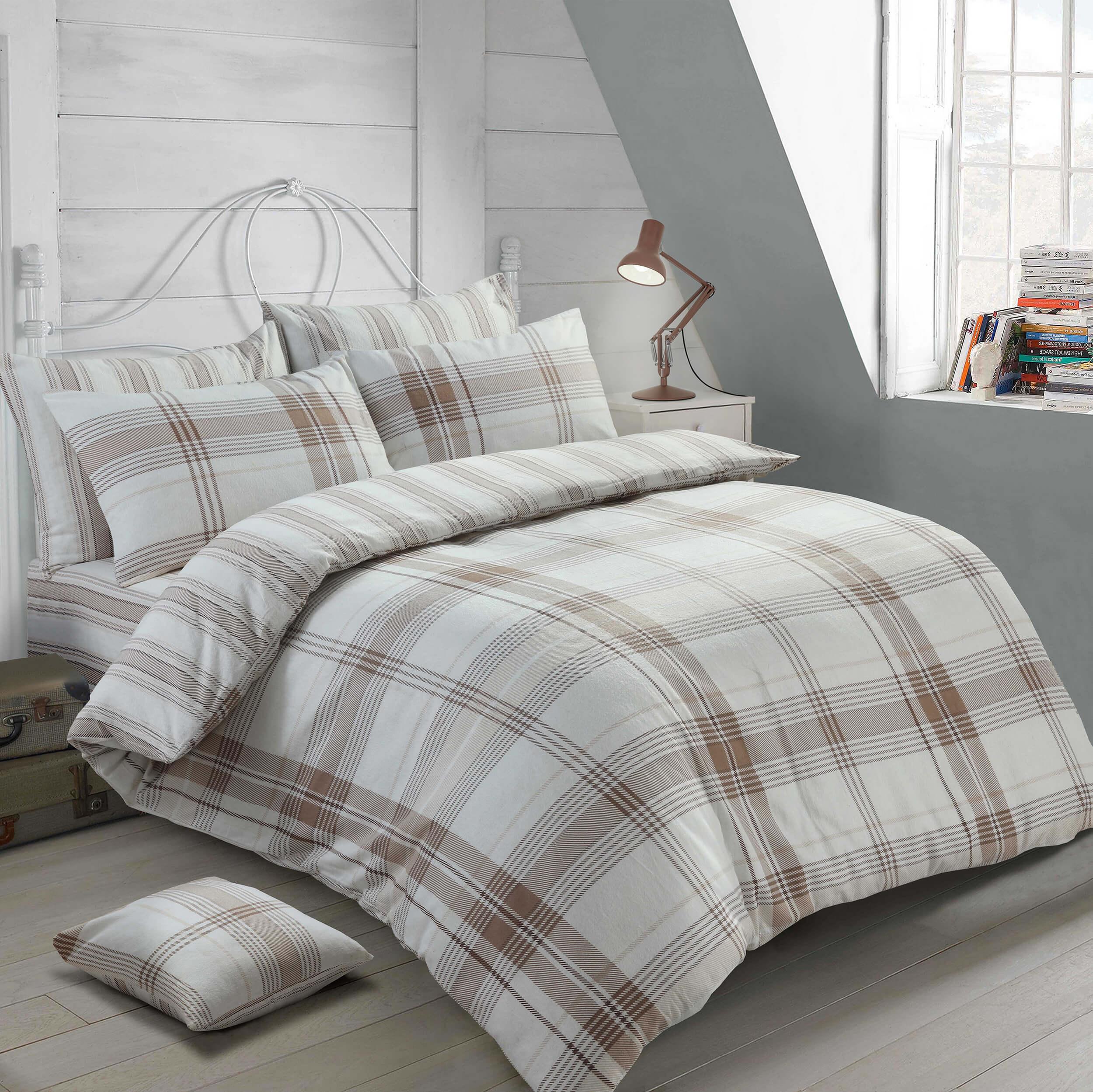 Double Bed Burlington Flannel Sheet Set The Bedlinen Company Cork
