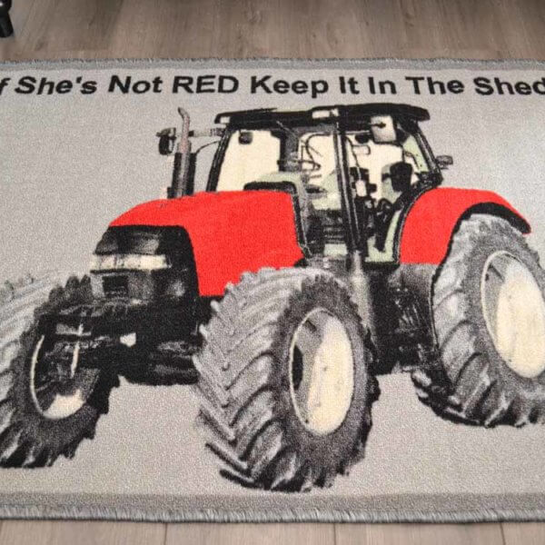 Red Tractor Rug