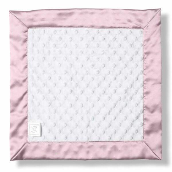 Velour Dot Baby Blanket Pink