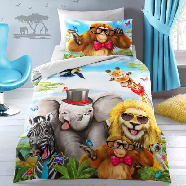 Selfie Animals Pillow - front (3)