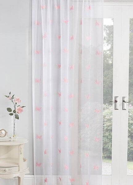 Butterfly Blush Voile Panel